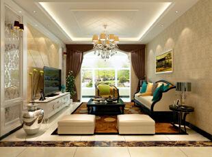 ,140.0平,15.0万,欧式,三居,客厅,白色,