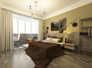 ,77平,15万,现代,两居,卧室,日式,新古典,原木色,