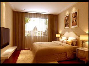 ,120平,4万,现代,三居,卧室,黄色,