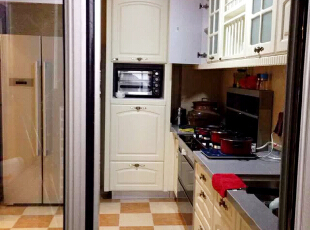 ,128平,89万,新古典,三居,厨房,白色,