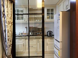 ,120平,15万,现代,三居,厨房,白色,
