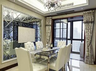,120平,15万,现代,三居,餐厅,白色,