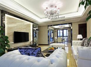 ,120平,15万,现代,三居,客厅,黑白,