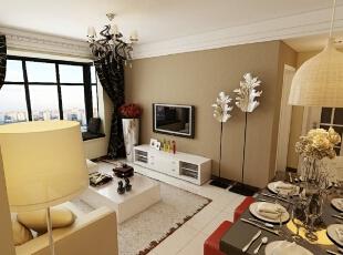 张家山领秀城-现代两居-张家山75平现代两居室