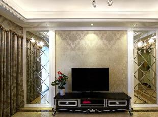 ,98平,9万,现代,三居,客厅,白色,