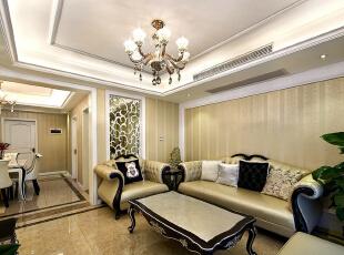 ,98平,9万,现代,三居,客厅,白黄,