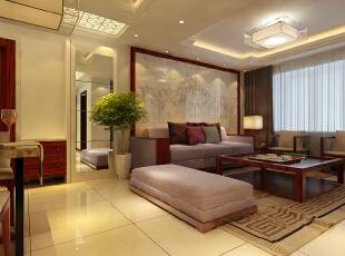 ,80平,6万,美式,两居,客厅,原木色,白色,