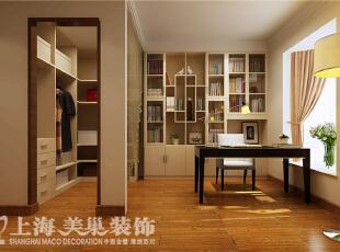 祥和花园现代简约风格190平4室2厅装修案例效果图——书房,简简单单的布置,营造一份安静的环境,让人陶醉于书香浪漫。,190平,10万,现代,四居,书房,白色,