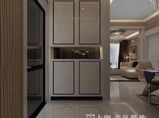 郑州阳光城89平两室两厅现代简约风格装修效果图--入户门厅,89平,6万,现代,两居,客厅,白色,