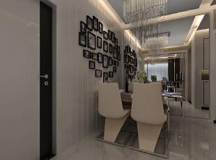 阳光城16号楼89平两室两厅现代简约风格装修效果图--餐厅,89平,6万,现代,两居,餐厅,白色,