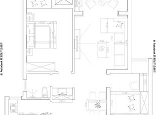 阳光城89平两室两厅现代简约风格装修户型图,89平,6万,现代,两居,