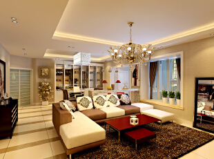 ,135平,25万,现代,四居,客厅,