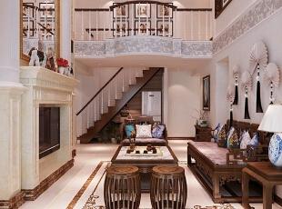 ,170平,30万,欧式,复式,客厅,白色,