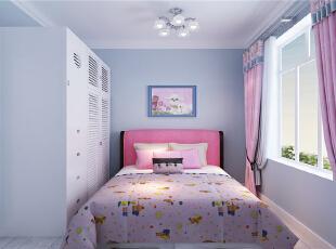 ,78平,7万,现代,两居,卧室,白色,