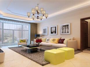 ,140平,10万,混搭,三居,客厅,白色,