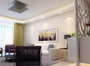 ,100平,8万,现代,两居,客厅,白色,