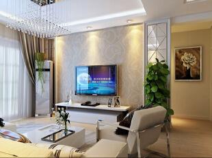 ,128平,10万,现代,三居,客厅,白色,