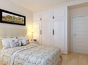 ,128平,10万,现代,三居,卧室,白色,