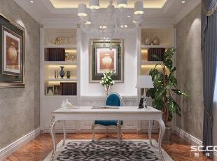 餐厅用镶嵌式酒柜,增加储物空间的同时丰富了空间内容。,90平,8万,欧式,两居,书房,白色,