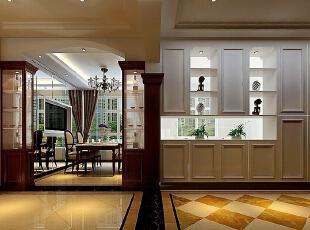 整体的布局结构合理、配上红木的餐桌,整体大气十足,198平,17万,现代,三居,餐厅,白色,