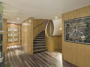 北京紫禁尚品国际装饰—楼梯间—现代中式,160平,42万,中式,三居,原木色,黄色,黑白,