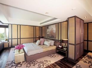 北京紫禁尚品国际装饰—卧室—现代中式,160平,42万,中式,三居,卧室,白色,原木色,粉色,紫色,