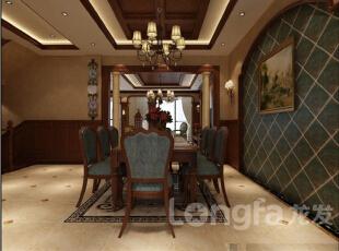 ,574平,30万,中式,大户型,餐厅,原木色,