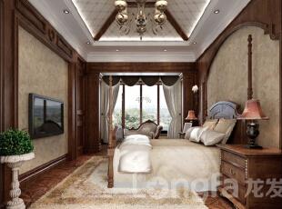 ,574平,30万,中式,大户型,卧室,原木色,