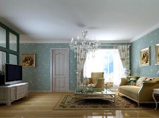 ,150平,18万,韩式,两居,客厅,白蓝,