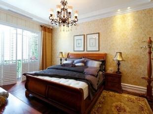 ,130平,6万,美式,三居,卧室,原木色,田园,
