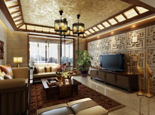 ,128平,16万,混搭,三居,客厅,原木色,
