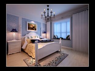 ,115平,8万,地中海,三居,卧室,白色,