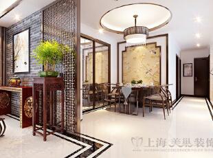 锦艺轻纺城134平四室两厅新中式装修餐厅效果图,134平,6万,中式,四居,餐厅,白色,