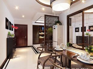 锦艺轻纺城134平四室两厅新中式装修客厅效果图,134平,6万,中式,四居,餐厅,白色,