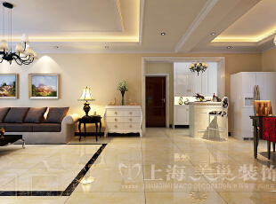 日报社家属院146平三室两厅混搭风格过道装修效果图,146平,7万,混搭,三居,客厅,白色,