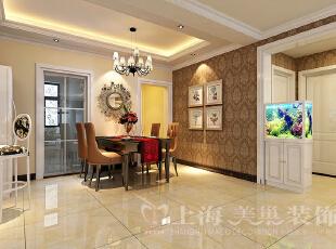 日报社家属院146平三室两厅混搭风格餐厅装修效果图,146平,7万,混搭,三居,餐厅,白色,