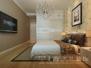日报社家属院146平三室两厅混搭风格卧室装修效果图,146平,7万,混搭,三居,卧室,白黄,