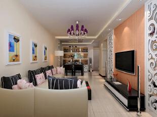 ,82平,4万,现代,两居,客厅,白色,