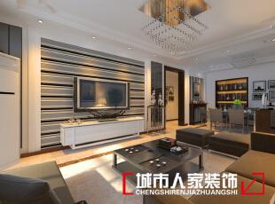 ,140平,10万,现代,三居,客厅,黑白,