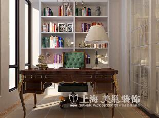 鑫苑世家180平四室两厅简欧风格装修效果图--书房,180平,12万,欧式,四居,书房,白色,
