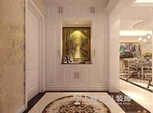 鑫苑世家180平4室2厅简欧风格装修效果图--门厅,180平,12万,欧式,四居,餐厅,白色,