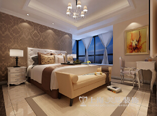鑫苑世家180平4室2厅简欧风格装修效果图--卧室,180平,12万,欧式,四居,卧室,原木色,