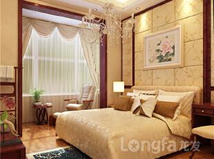 ,315平,20万,现代,别墅,黄色,卧室,原木色,
