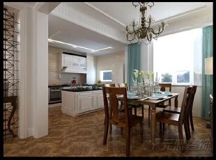 ,160平,12万,美式,三居,餐厅,原木色,