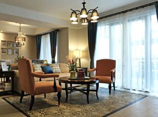 ,150平,混搭,四居,客厅,原木色,黄色,蓝色,