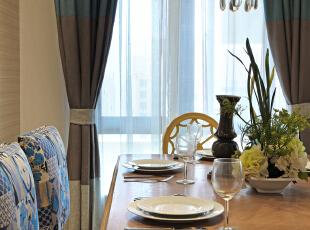 ,150平,混搭,四居,餐厅,原木色,黄色,蓝色,绿色,