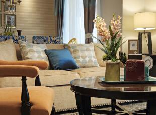 ,150平,混搭,四居,客厅,原木色,红色,蓝色,绿色,