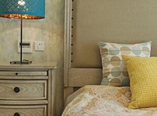 ,150平,混搭,四居,卧室,原木色,黄色,蓝色,