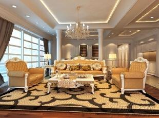 ,500平,25万,欧式,别墅,客厅,黄色,