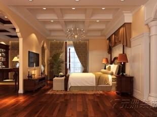 ,500平,25万,欧式,别墅,卧室,黄色,